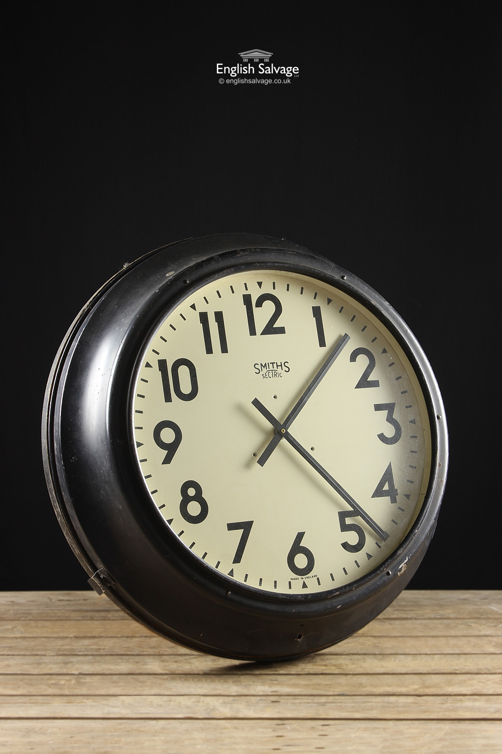 Vintage Industrial Clock By Smiths Sectric
