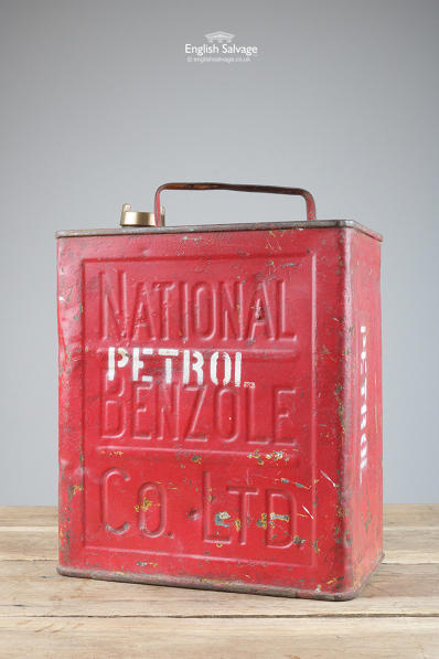 Vintage National Benzole fuel can