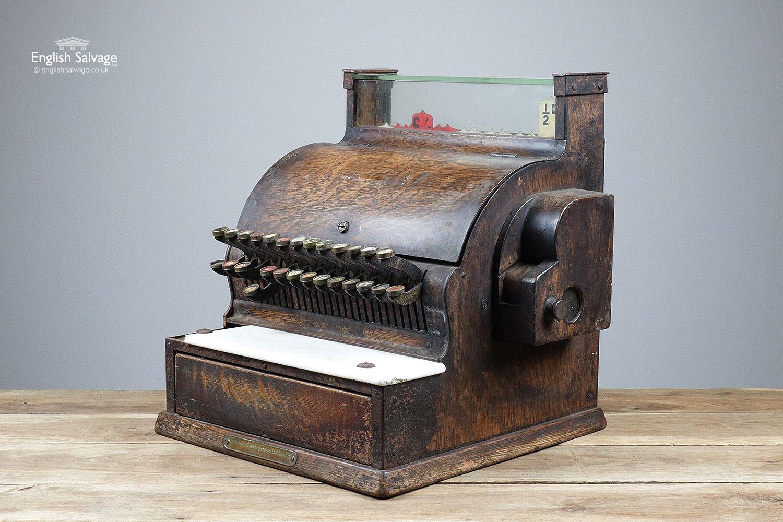 Vintage Oak Effect National Cash Register