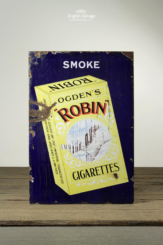 Vintage Ogden S Cigarettes Advertising Sign