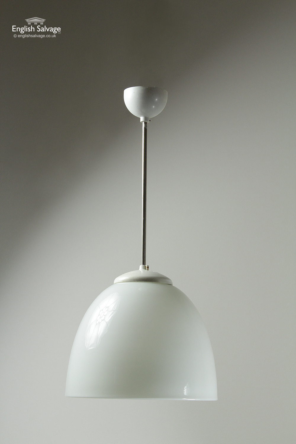 Vintage Opaline Flower Hang Pendant Light