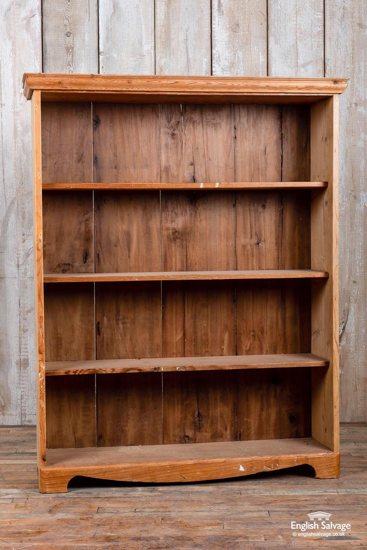 Vintage Pine Bookcase Shelf Unit