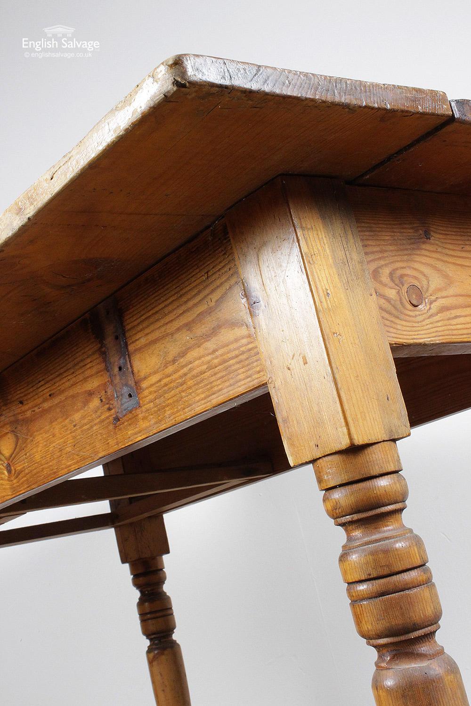 Vintage Pine Turned Legs Table