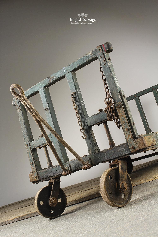 Vintage Railway Station Luggage Cart Trolley