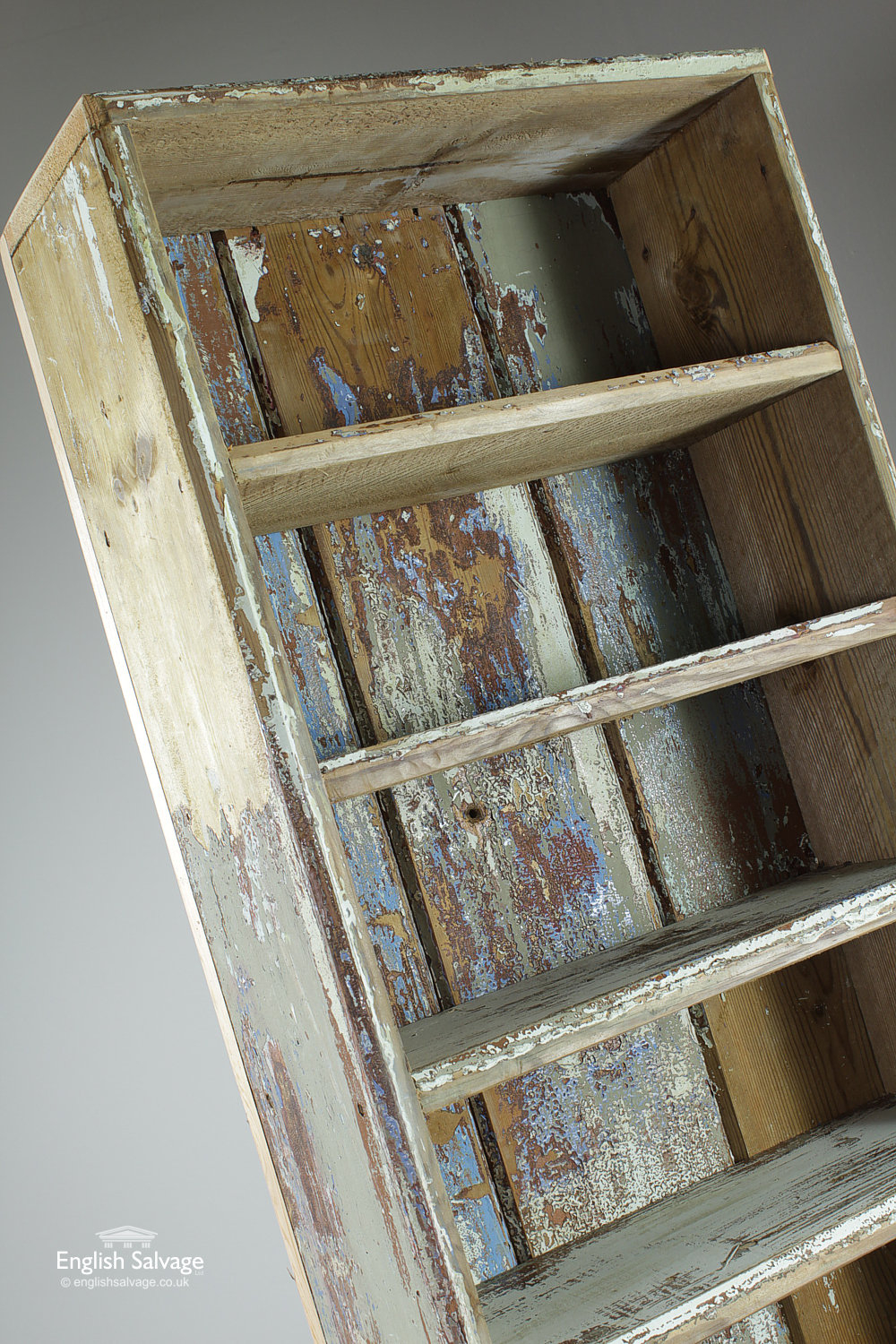 Vintage Shelf Unit Made From Reclaimed Wood
