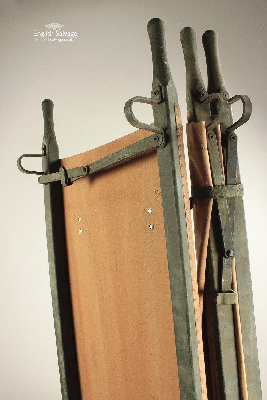 Vintage Wwii Wood Amp Canvas Medical Stretcher