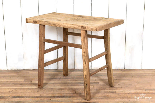 Weathered elm table
