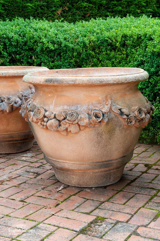 Weathered Terracotta Tree Pot Xl Planter