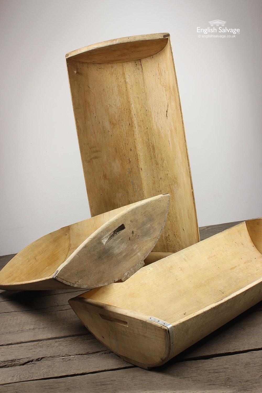 Wood Dough Trough Bowl With Metal Strap